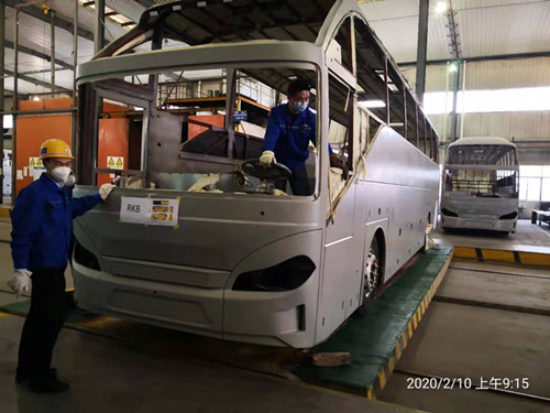 Fight against the NCP, Bonluck bus restart production on time